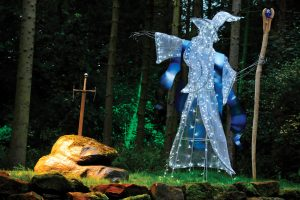 Merlin the wizard in the Enchanted Forest